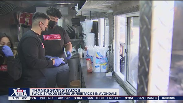 Food truck served up free tacos on Thanksgiving