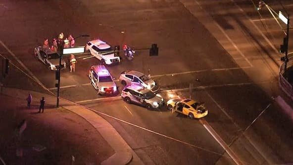 Police investigating stolen car crash at 51st Avenue and Cactus Road
