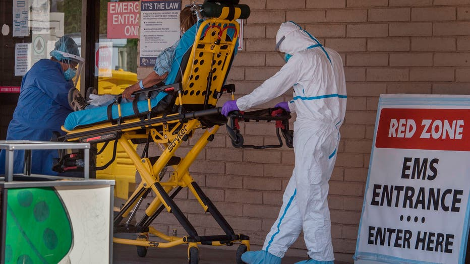Patient being taken to emergency room amid pandemic