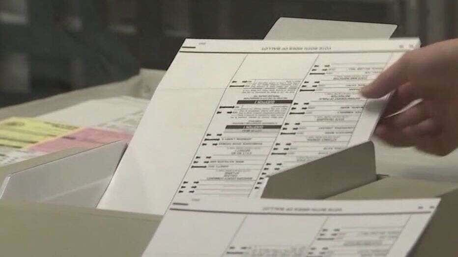Voting ballot in Maricopa County