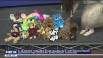 6-year-old girl donates stuffed animals to Phoenix PD