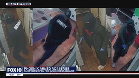Phoenix PD looking for two armed men who robbed restaurant employee