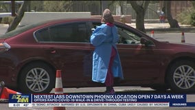 Rapid COVID-19 walk-in, drive-thru testing available in Downtown Phoenix