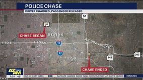 Police chase down I-10 ends in arrest near Sky Harbor
