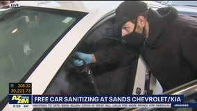 Valley car dealership offering free car sanitizing