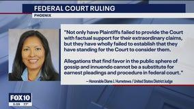 Federal judge dismisses lawsuit that seeks to undo Biden's Arizona win; Trump lawyers to appeal