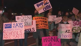 Parents within Tempe Union Unified rally for answers on the fate of online learning