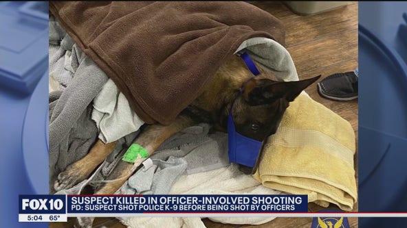 Police: Suspect dead, K-9 injured in shooting in North Phoenix