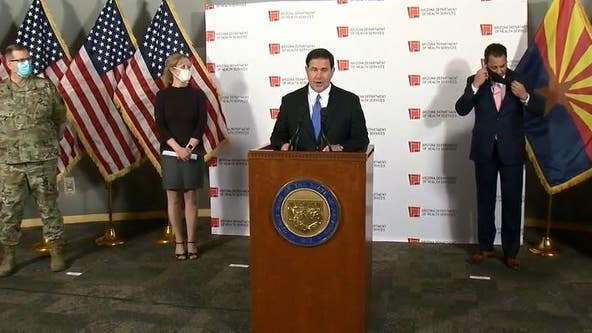 Governor Doug Ducey holding news conference as COVID-19 surge continues in Arizona