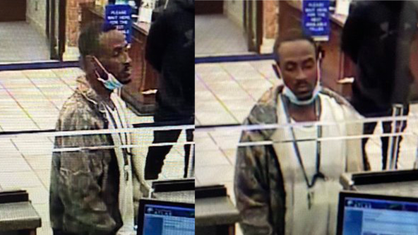 Mississippi police looking for man who pulled down his mask during bank robbery