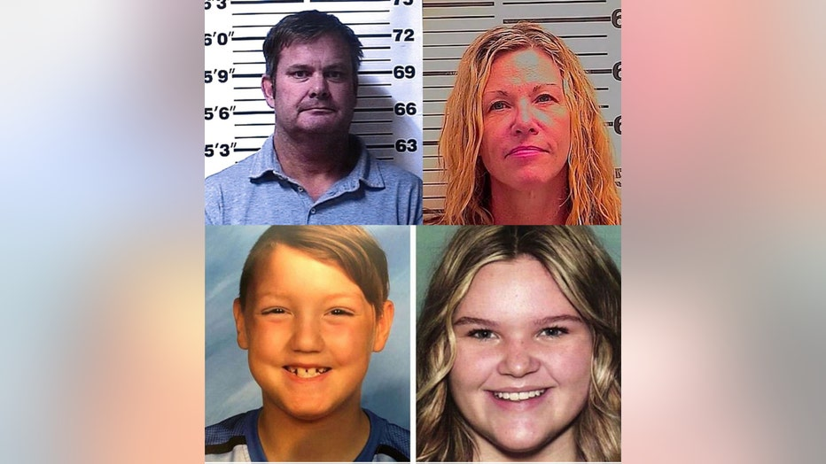 Chad Daybell, top left; Lori Vallow, top right; JJ Vallow, bottom left; Tylee Ryan, bottom right.