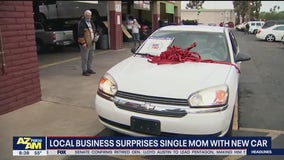 Phoenix business surprises single mom with new car