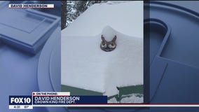 Arizona town deals with snow after surviving devastating wildfire