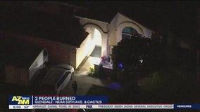 Man, child burned at Glendale home