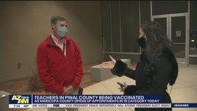 Teachers in Pinal County get vaccinated; Combs H.S. teacher talks about his experience
