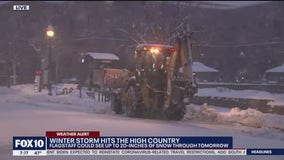 Winter storm hits the high country