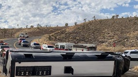 MCSO: Fatal rollover crash involving tour bus was headed to Grand Canyon West