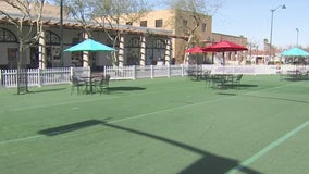 Outdoor communal dining area in Downtown Mesa hopes to draw in diners, provide support to local restaurants