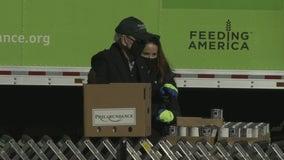 Biden spends MLK Day of Service assembling food boxes at Philabundance