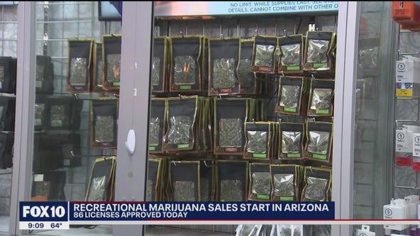 Long lines as recreational marijuana sales begin in Arizona