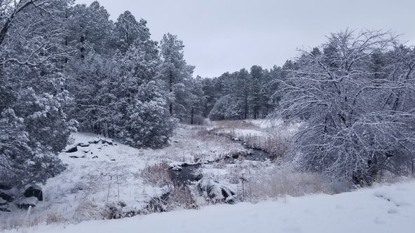 Northern Arizona sees winter storms; rain, hail reported across the Valley