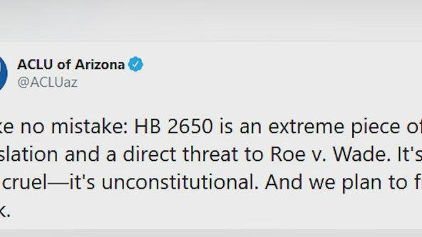 Newly proposed Arizona bill would outlaw abortions