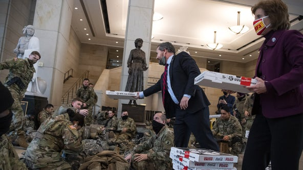 DC pizza shop takes donations to help feed National Guard members stationed at US Capitol