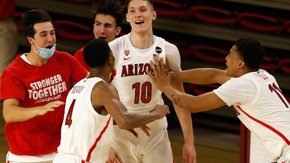 Tubelis' tip lifts Arizona to 84-82 win over ASU