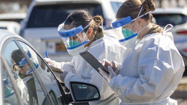Coronavirus testing site in Arizona
