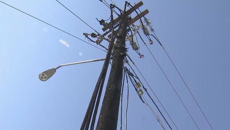 Photo of a telephone pole