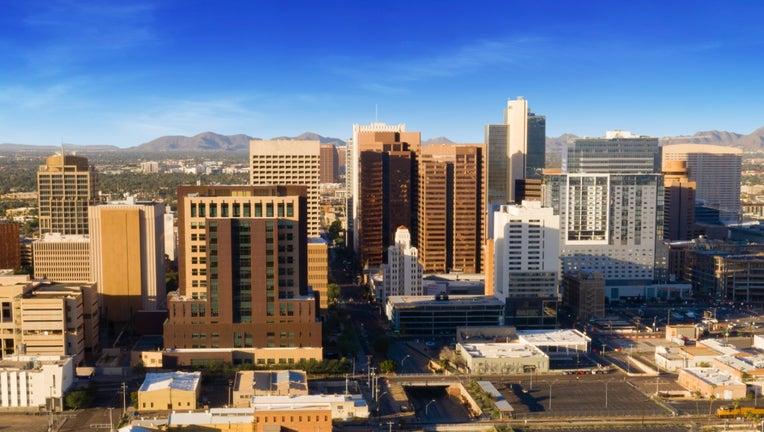 Phoenix city skyline at midday