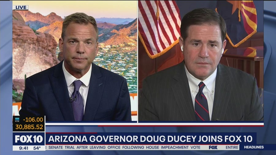 Gov. Ducey discusses COVID-19 vaccine rollout, Capitol riot