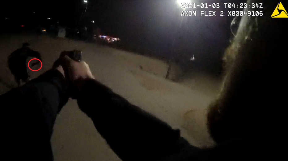 On Jan. 4, Chandler Police released a photo of bodycam footage of the shooting that shows the suspect with a gun.