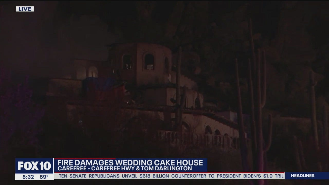 Wedding Cake House In Carefree Damaged By Fire