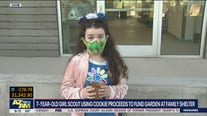 7-year-old Girl Scout using cookie proceeds to fund garden at family shelter