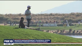 A smaller crowd is enjoying the Waste Management Phoenix Open