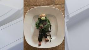 Bernie Salads: Ahwatukee artist makes Bernie Sanders meme out of vegetables, goes viral