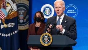 President Biden, Vice President Harris take virtual tour of vaccination site at State Farm Stadium