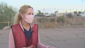 AZDHS Director Dr. Cara Christ speaks on opening of COVID-19 vaccination site at Phoenix Municipal Stadium