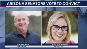 Arizona senators Sinema, Kelly vote to convict Trump in impeachment trial
