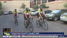 Charity bike ride in Phoenix raises money to build homes in Mexico