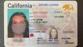 Southern California woman's new ID has photo of her wearing a mask