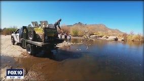 Arizona Game and Fish restocking the lakes during winter fishing season