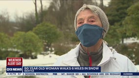 90-year-old Seattle woman walks 6 miles in the snow to get coronavirus vaccine