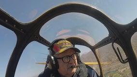 WWII veteran takes flight in a 1940s plane from Falcon Field in Mesa
