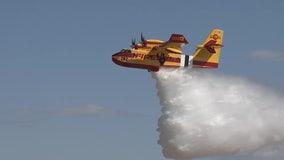 With practice water drops at Phoenix-Mesa Gateway Airport, crews prepare for wildfire season