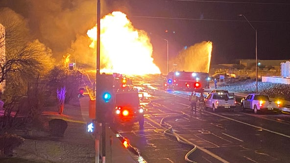 Phoenix Fire battles large gas line fire near 7th Street and University Drive
