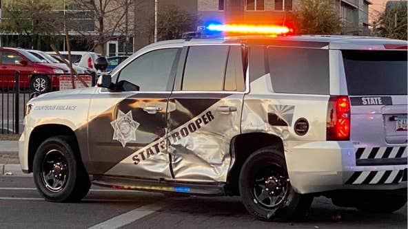Department of Public Safety trooper OK after being struck by Phoenix driver