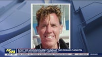 Body of missing man found at Grand Canyon