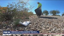 ADOT picking up trash near Mini Stack in Phoenix